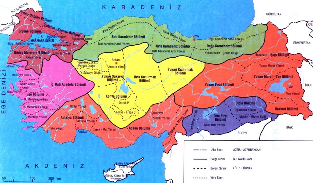 bölgeler haritası