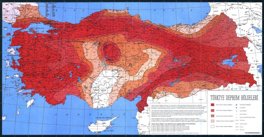 türkiye deprem haritasi