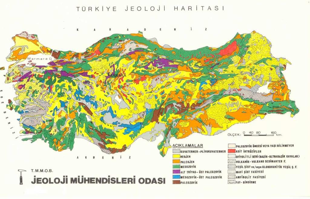 türkiye jeoloji haritası