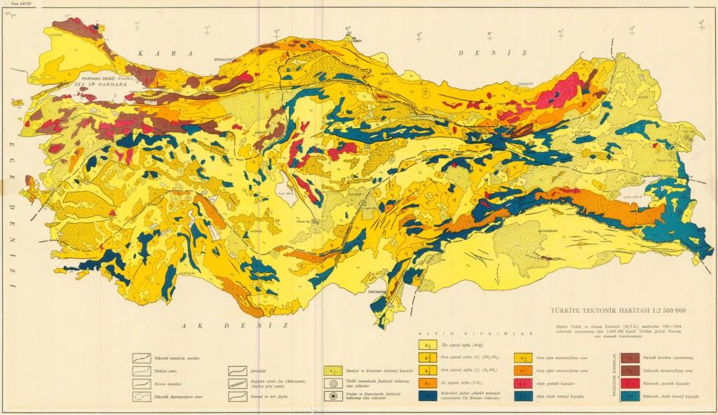 türkiye tektonik haritasi