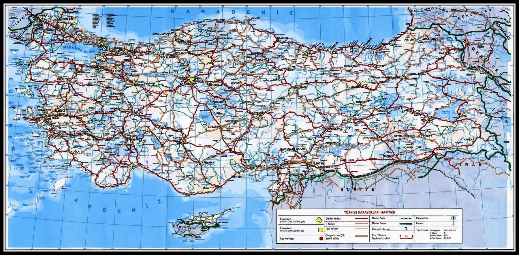 Türkiye haritası türkiye haritaları fiziki haritalar siyasi