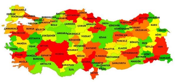 Türkiye iller haritası