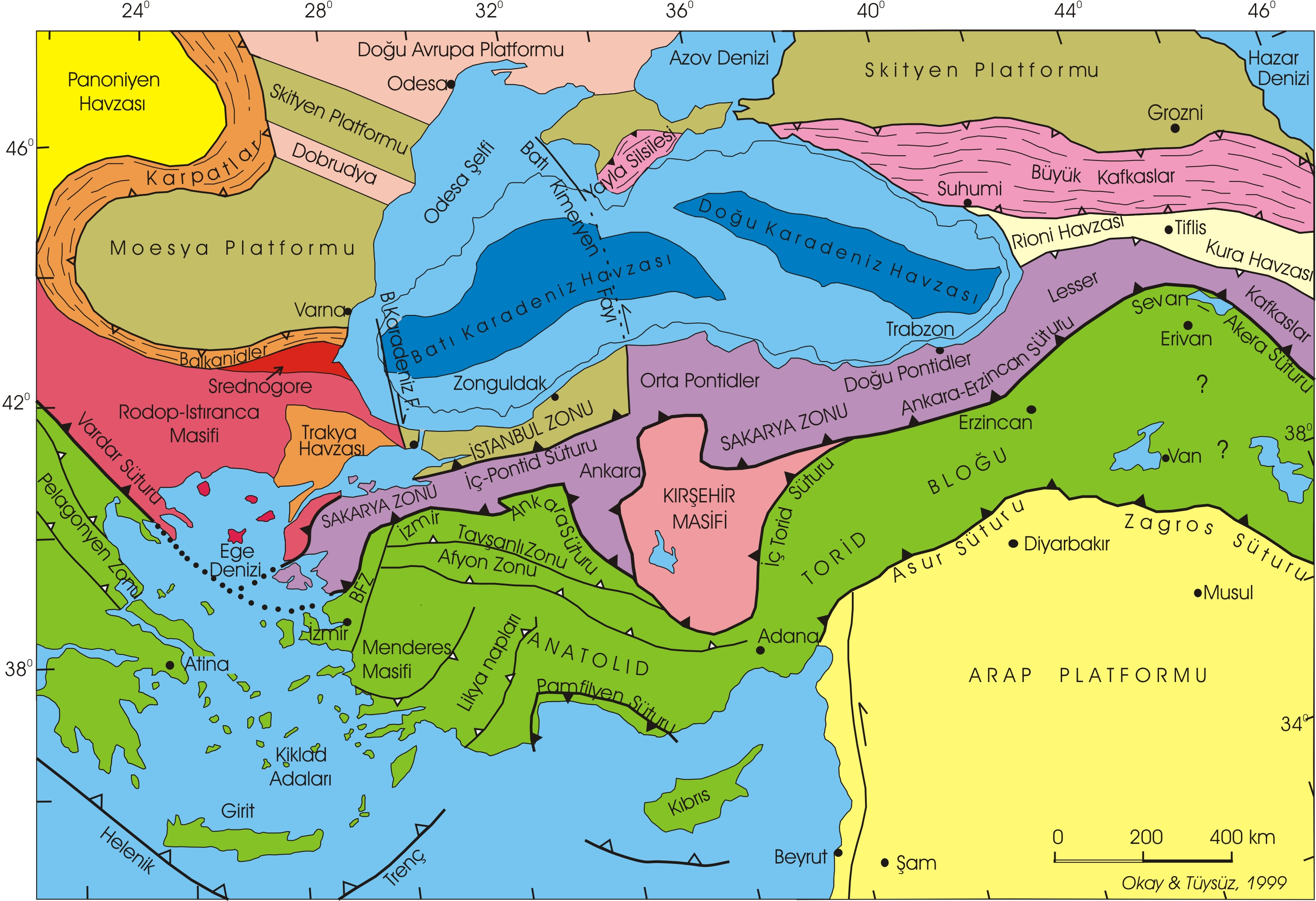 Türkiye Büyük Boy Harita Coğrafya Bilim