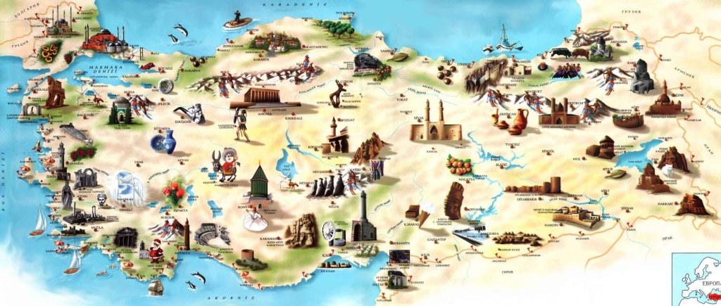 Türkiye turzim haritası