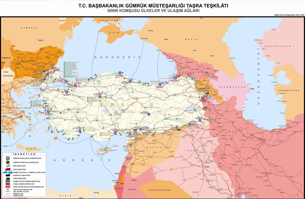 turkiye gumruk haritasi
