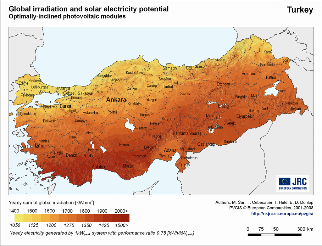 turkiye gunesleme haritasi