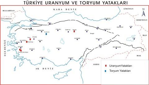 Türkiye'de Uranyum ve Toryum Yatakları